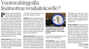 Forssan Lehti 21.8.2016 - Mielipide: Vuotovahingoilla lisätuottoa vesilaitokselle